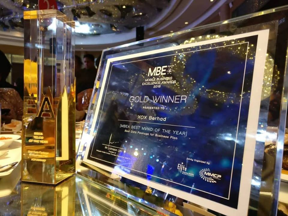 XOX Berhad Best MVNO of the Year 2018