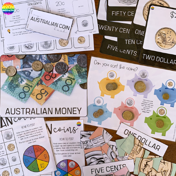 Teaching Australian Money - Learning About Coins Printable Pack | you clever monkey