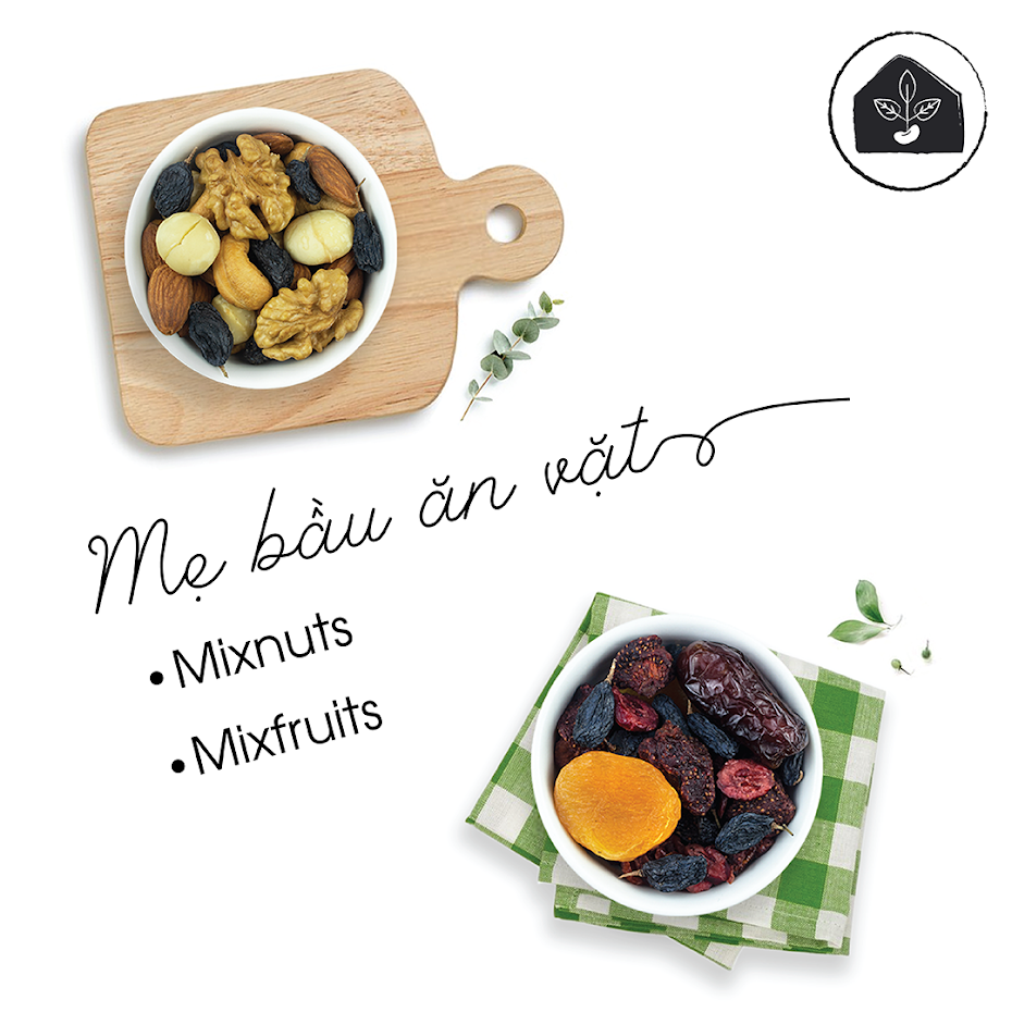 Bà Bầu mới mang thai ăn Mixfruits vào Con