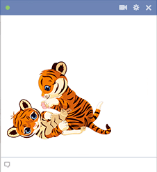 Playing tigers sticker