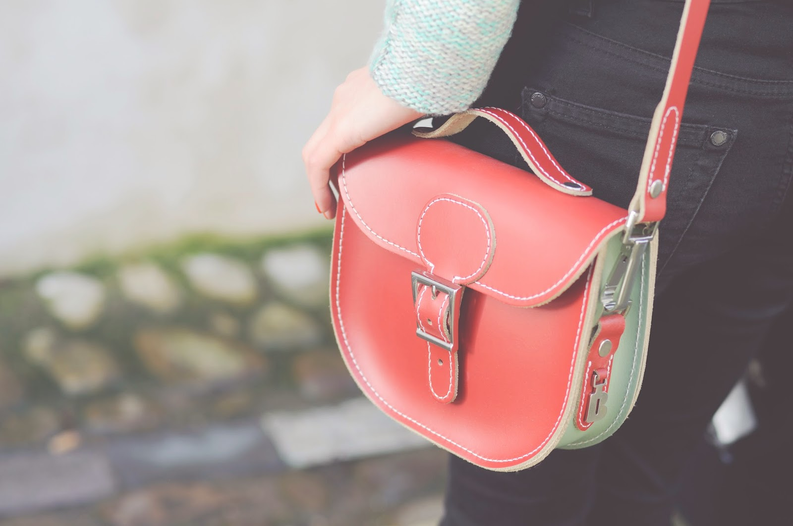 red leather bag from brit stitch