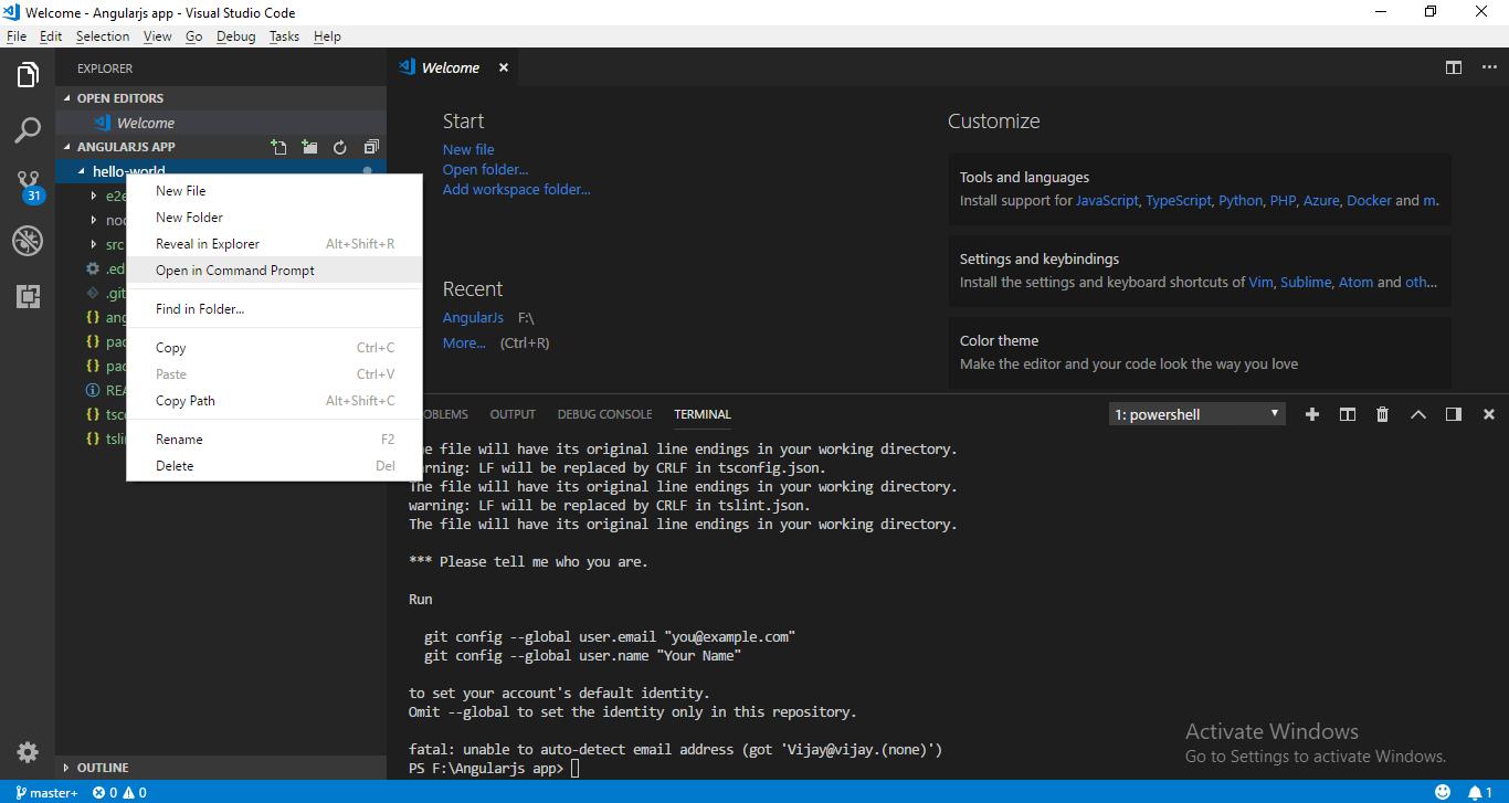 Hello world application with Angular 6 - ASPMANTRA   Asp Net,MVC