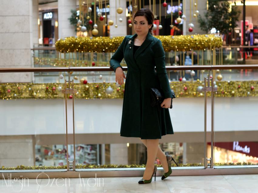 alışveriş-moda blogu-vintage-yeşil trençkot-farklı model stilettolar-süet trençkot-Fashionmia