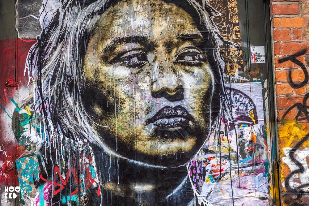 Eddie Colla, Street Art Wheat-paste artworks in Shoreditch, London.