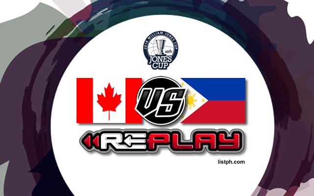 Video Playlist: Philippines-Ateneo vs Canada game replay July 17, 2018 Jones Cup