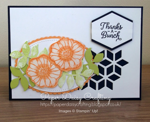 Handmade thank you card using Oh So Eclectic from Stampin' Up!