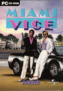 Carátula del videojuego Miami Vice de 1989 (Atomic Planet)