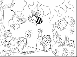 Cute Insect Coloring Pages For Kids Free Images