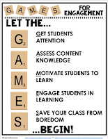 Games for Engagement, Teachers Pay Teachers, Games for Learning, Games for Secondary