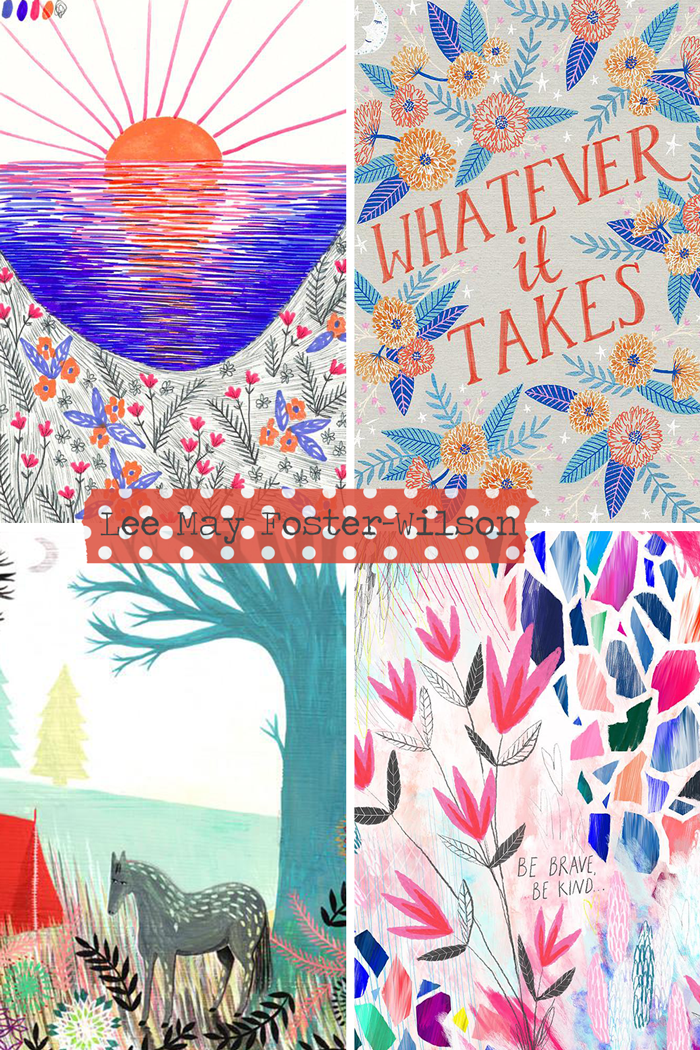 Bonbi Forest artist, illustrator, pattern designer, textile, jewelry, painting, markers, nature, lettering
