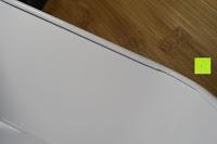 Kante: Brotkasten aus Metall mit Deckel aus Bambus | 32 x 20 x 12 cm | Bewahren Sie Ihr Brot luftdicht und hygienisch auf