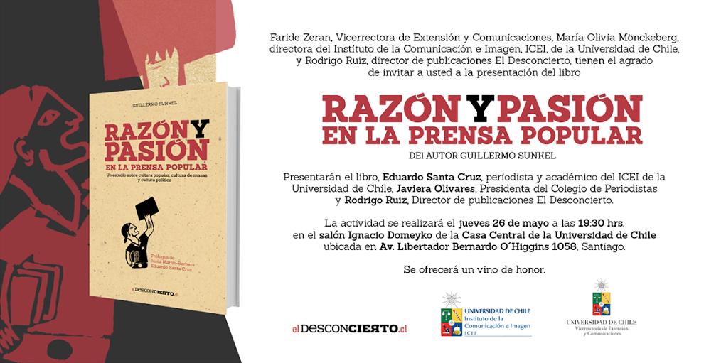 Lanzamiento segunda edición Razón y Pasión en la Prensa Popular