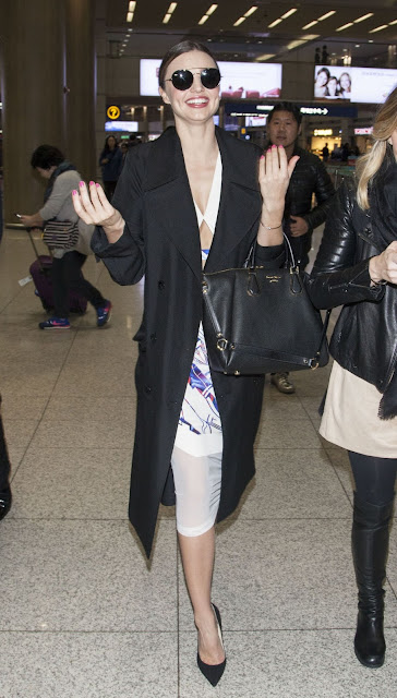 Miranda Kerr Style at the Incheon International Airport in South Korea