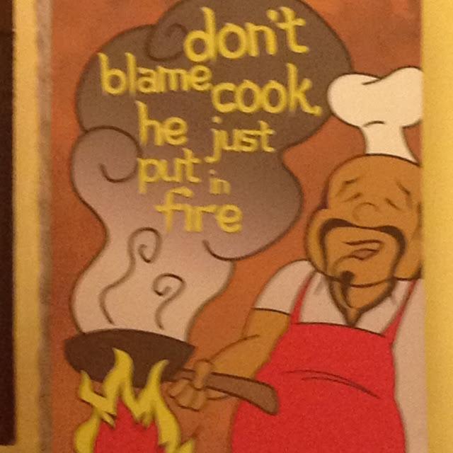 A funny poster at Kublai Khan Mongolian Restaurant