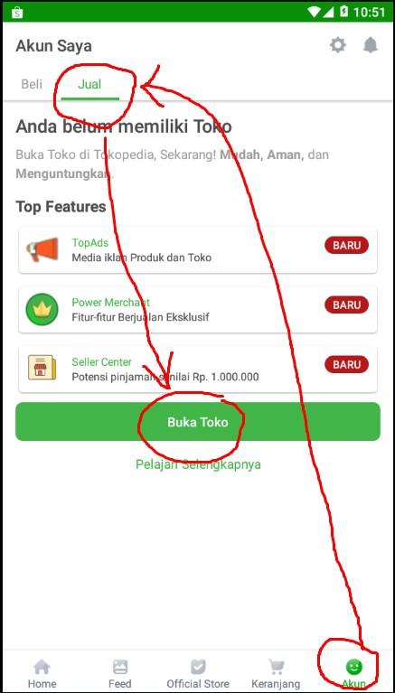 Langkah Membuat Toko di Marketplace Tokopedia.