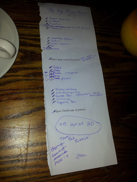 Pub quiz with friends