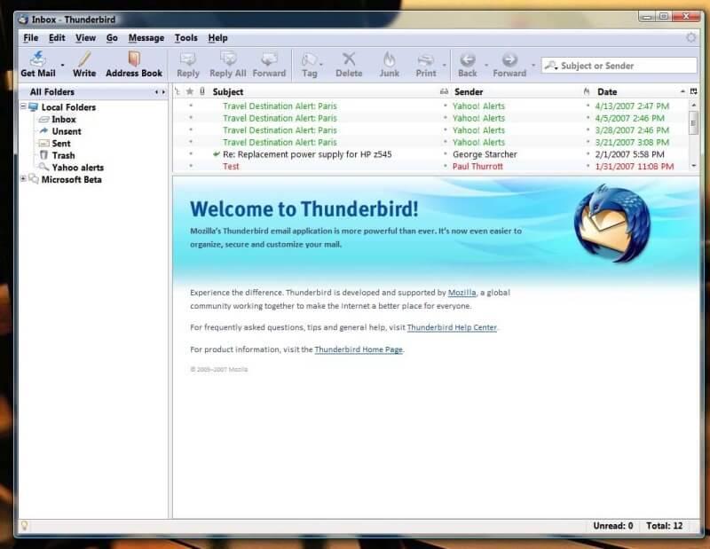 تحميل, برنامج, ادارة, البريد, الالكترونى, Thunderbird, احدث, اصدار