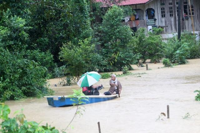 Banjir: 17 Buah Sekolah Di Empat Jajahan Di Kelantan Tutup Esok (2 Januari 2017)