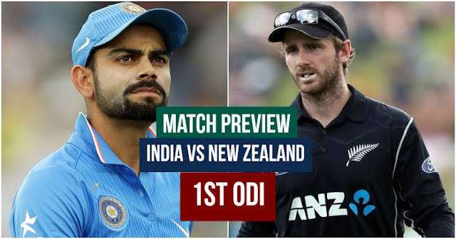 Match Preview India vs New Zealand 1st ODI 2017 (IND vs NZ)