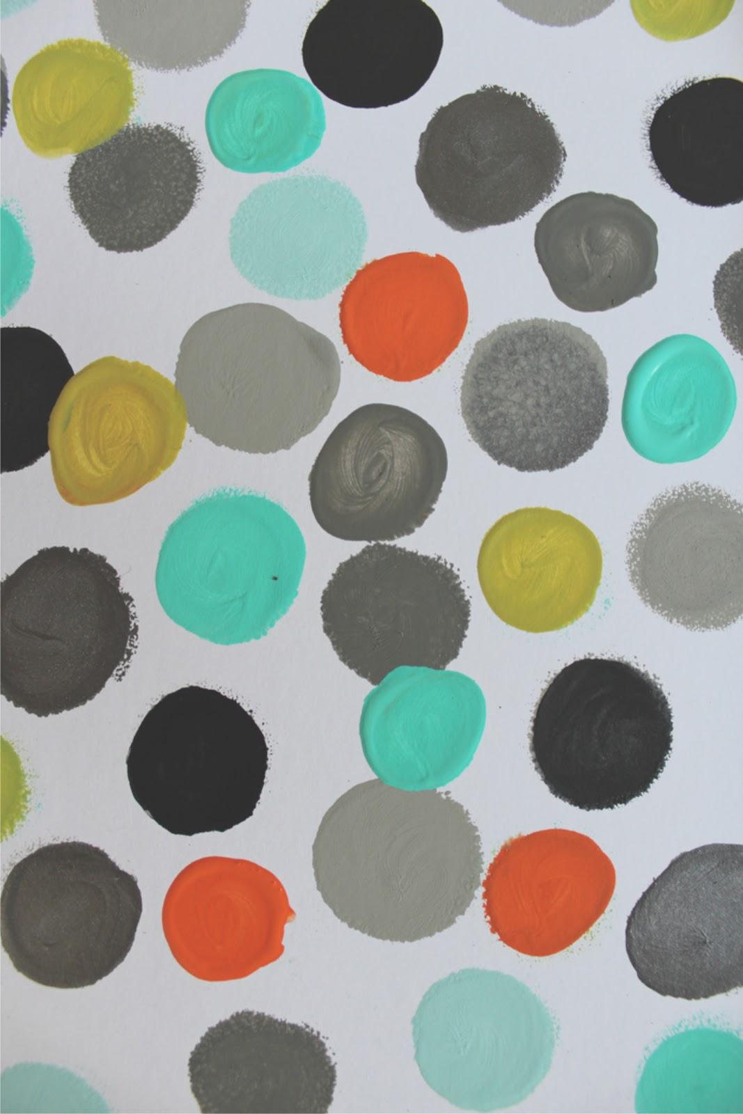 Love, Jessica Anne: DIY: Polka dot wall art