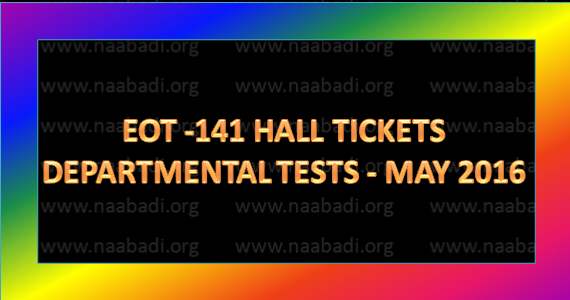 TSPSC Dept EOT-141 Test Hall Tickets Exam on 15-4-17