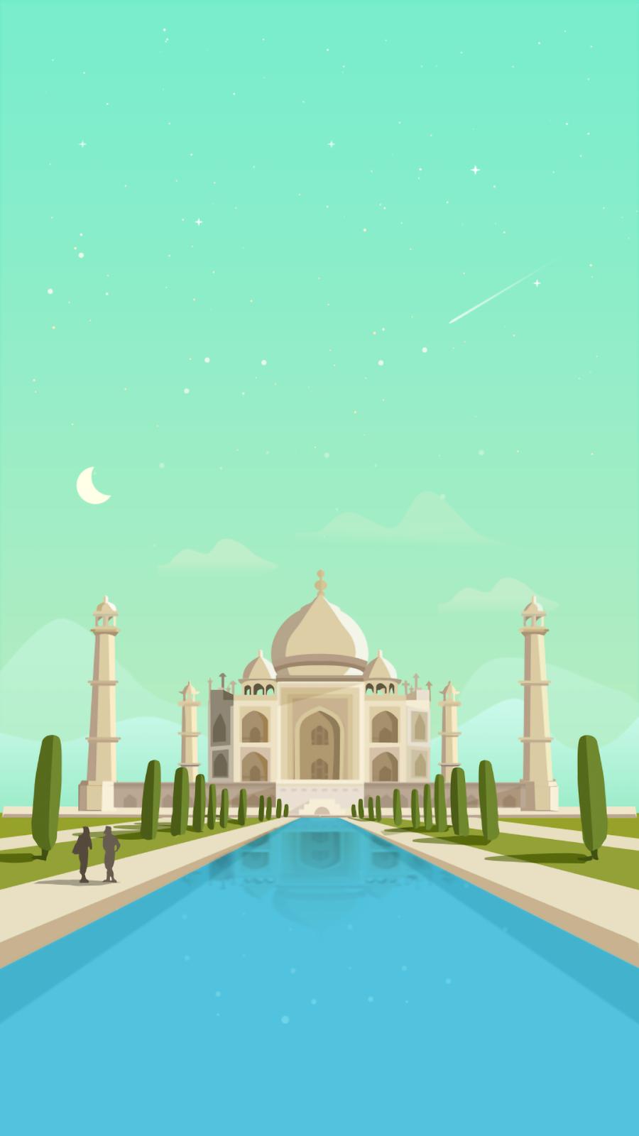 Taj Mahal wallpaper minimalist