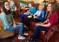 Catholic's Key Club Celebrates St. Patrick's Day at Wesley Gardens in Montgomery 5