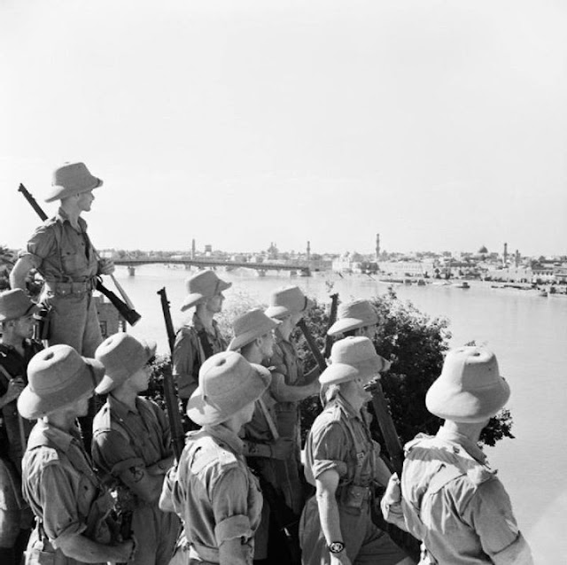 British soldiers looking across the river at Baghdad 11 June 1941 worldwartwo.filminspector.com