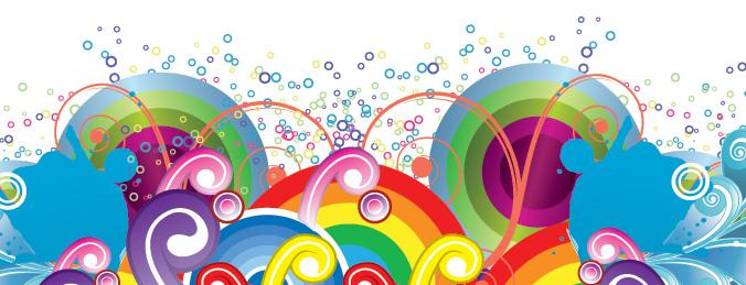 Free Vector がらくた素材庫: カラフルな背景 Colorful Background