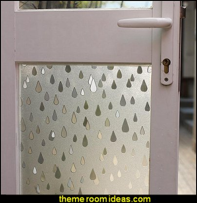Raindrop Glass Decorative Window Film