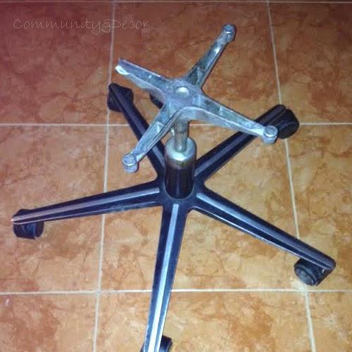 briconsejo para reutilizar una estructura metálica de silla de oficina