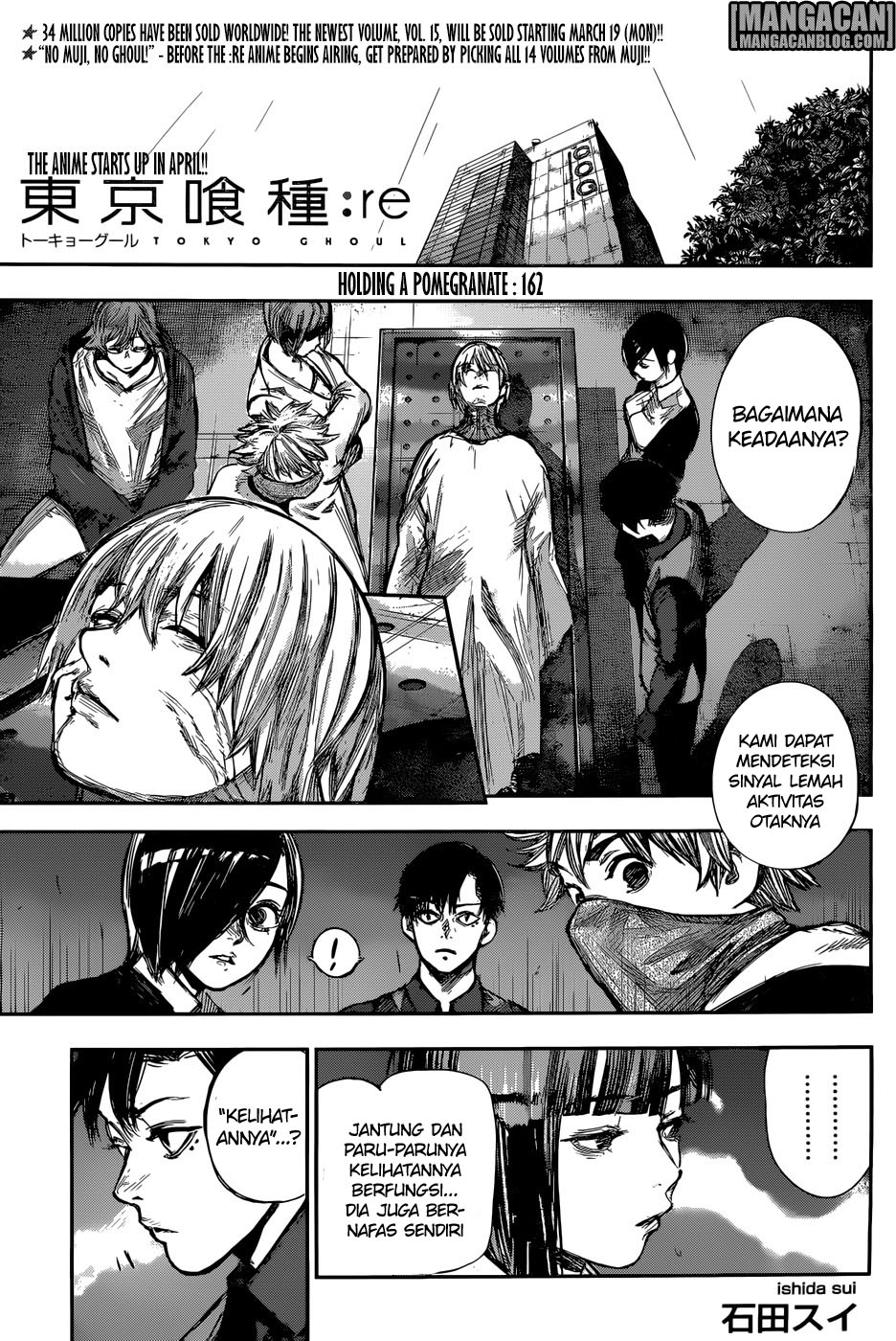 Tokyo Ghoul:re Chapter 162 Bahasa Indonesia