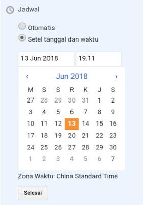 Jadwal postingan di blog Blogger