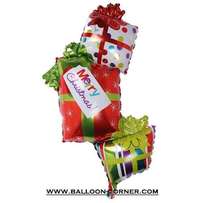 Balon Foil Merry Christmas Gift