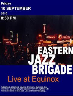 Advert for Eastern Jazz Brigade at Equinox in Phnom Penh Cambodia