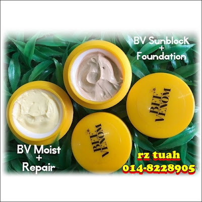 khasiat bee venom foundation moisturiser