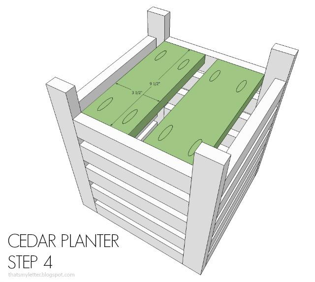 diy cedar planter free plans