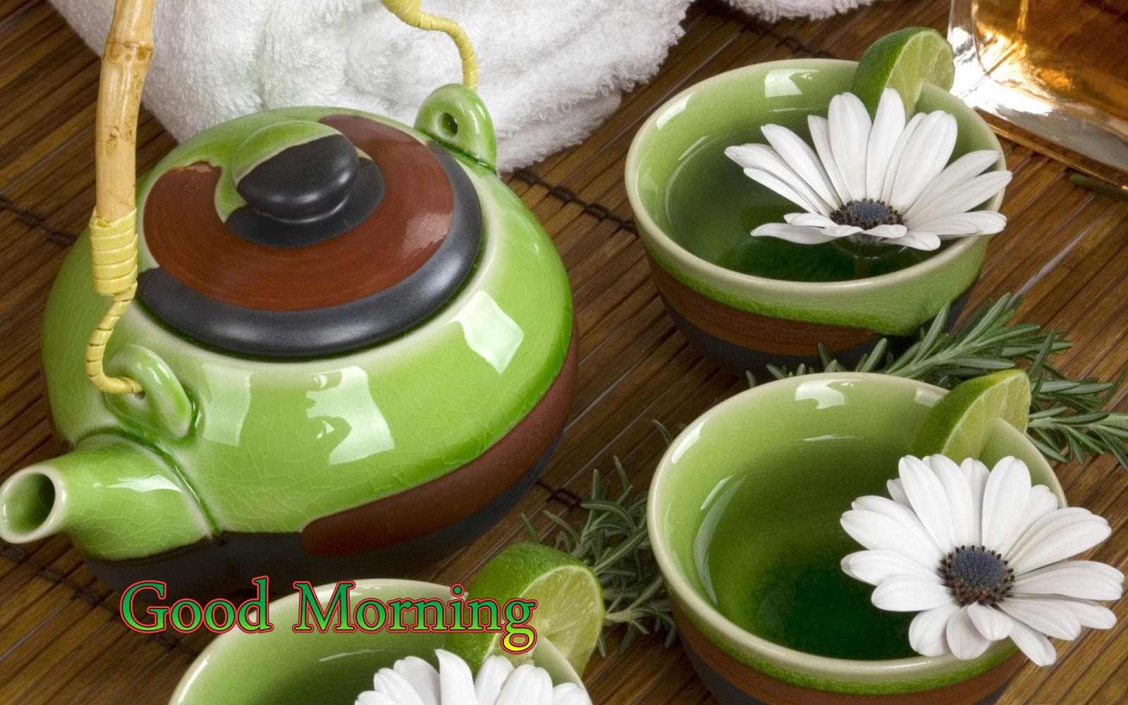 Festival Chaska Amazing Good Morning Hd Wishes With Green Tea