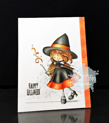 Tiddly Inks, Kecia Waters, Copic markers, witch, Halloween
