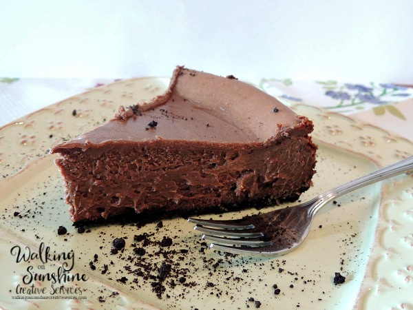 Chocolate Cheesecake from Walking on Sunshine Recipes