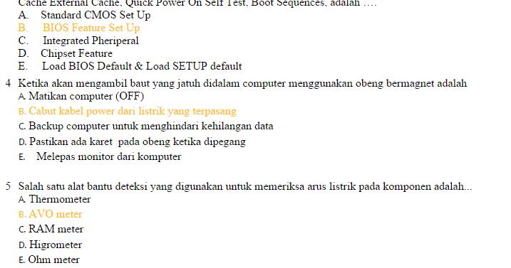 Contoh Soal Latihan Un Produktif Tkj Dan Jawabanya Soal To Tkj Soal Un Tkj Soal Try Out