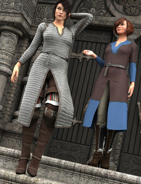Tunics and Maille Outfits for Genesis 3 Female