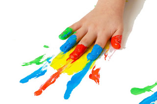 Finger Painting Prints school paints