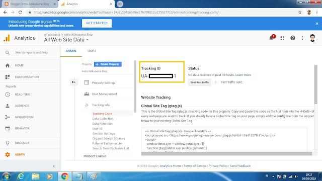 """alt=""""Cara Melihat ID Pelacakan Properti Google Analytics"""""""