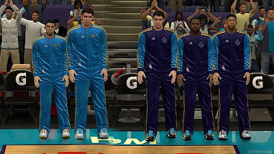 NBA 2K13 New Orleans Hornets Warmup Uniforms