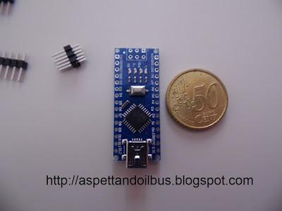 Fig. 3 - Il modulo Arduino Nano V 3.0 visto da sopra - foto di Paolo Luongo