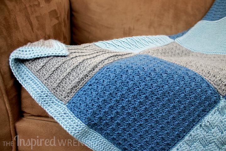 Detail of the 2015 Crochet Along Afghan Sampler from The Inspired Wren