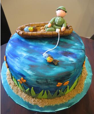 fishing birthday cakes for men