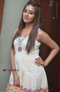 Telugu Actress Anu Emmanuel New Stills in Beautiful White Long Dress  0004.JPG