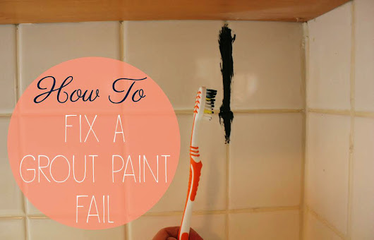 Bloom's DIY Series Kitchen Redo: Grout Paint Fail.